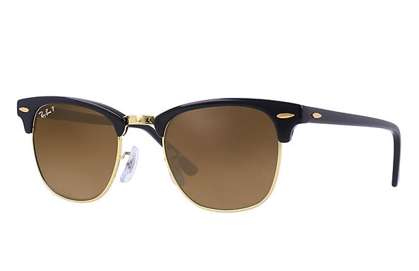 Ray-Ban  prescription sunglasses RB3016 UNISEX P018 clubmaster black RX_805289653653?roxLensPartNumber=Brown_Gradient_Polar_SV