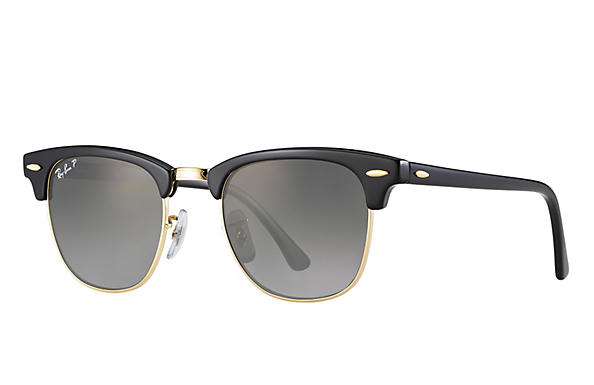 Ray-Ban  prescription sunglasses RB3016 UNISEX P018 clubmaster black RX_805289653653?roxLensPartNumber=Grey_Gradient_Polar_SV