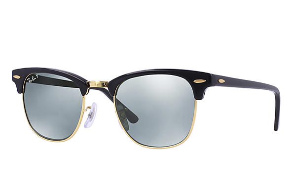 Ray-Ban  prescription sunglasses RB3016 UNISEX P018 clubmaster black RX_805289653653?roxLensPartNumber=Silver_Flash_Polar_SV