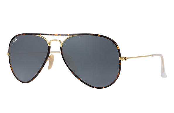 Ray-Ban  prescription sunglasses RB3025JM UNISEX P007 aviator full color tortoise RX_8053672130300?roxLensPartNumber=Blue_Gray_Classic_SV