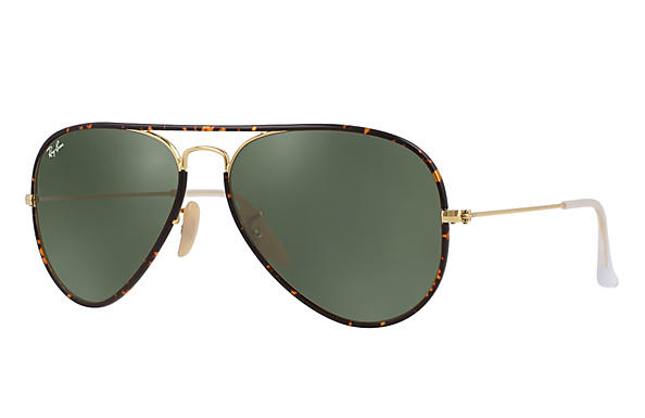 Ray-Ban 0RB3025JM-AVIATOR FULL COLOR Tortoise; Gold ROX_FRAME