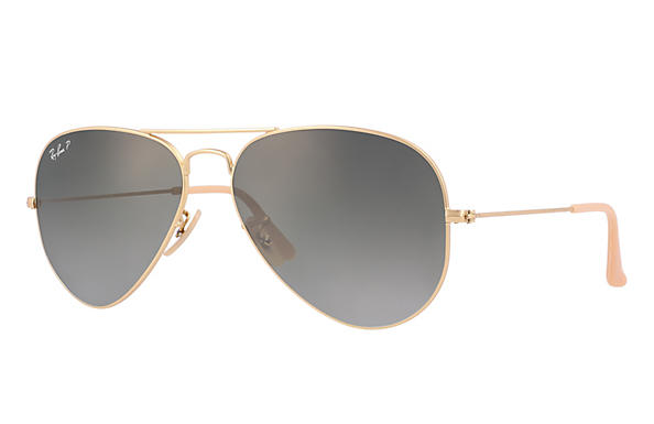 Ray-Ban 0RB3025-AVIATOR GRADIENT Matte Gold,Gold; Gold ROX_FRAME