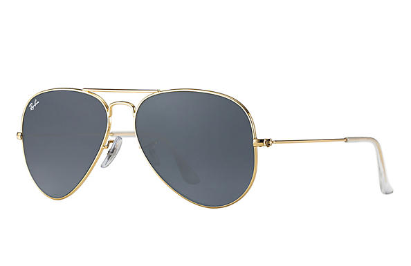 Ray-Ban  prescription sunglasses RB3025 UNISEX P043 aviator gold RX_805289602057?roxLensPartNumber=Blue_Gray_Classic_SV