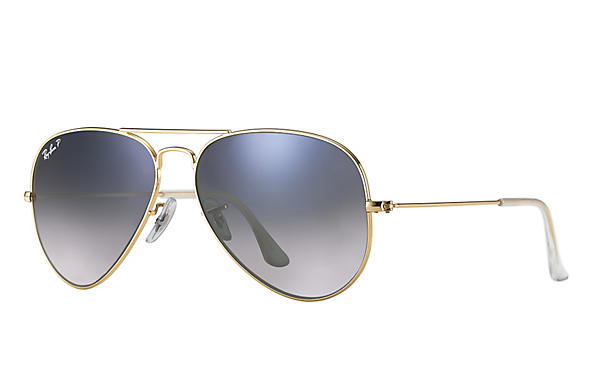 Ray-Ban  prescription sunglasses RB3025 UNISEX P043 aviator gold RX_805289602057?roxLensPartNumber=Blue_Grey_Gradient_Polar_SV