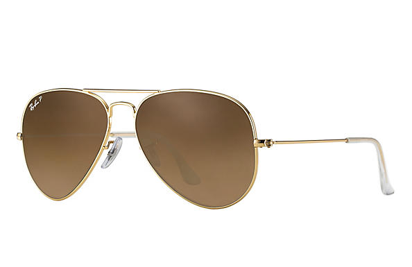 Ray-Ban  prescription sunglasses RB3025 UNISEX P043 aviator gold RX_805289602057?roxLensPartNumber=Brown_Gradient_Polar_SV