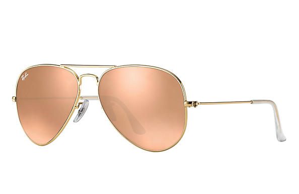 Ray-Ban  prescription sunglasses RB3025 UNISEX P043 aviator gold RX_805289602057?roxLensPartNumber=Copper_Flash_SV
