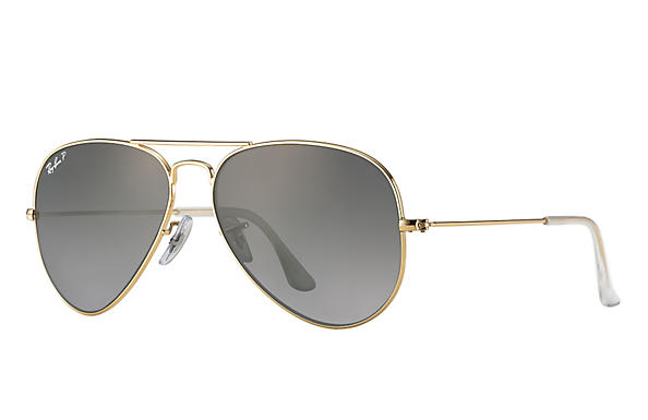 Ray-Ban  prescription sunglasses RB3025 UNISEX P043 aviator gold RX_805289602057?roxLensPartNumber=Grey_Gradient_Polar_SV