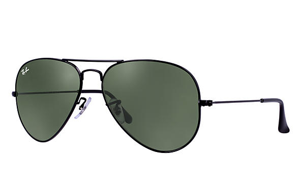 28501dd38b6a6 Ray-Ban Aviator RB3026 Black - Metal - Green Prescription Lenses ...