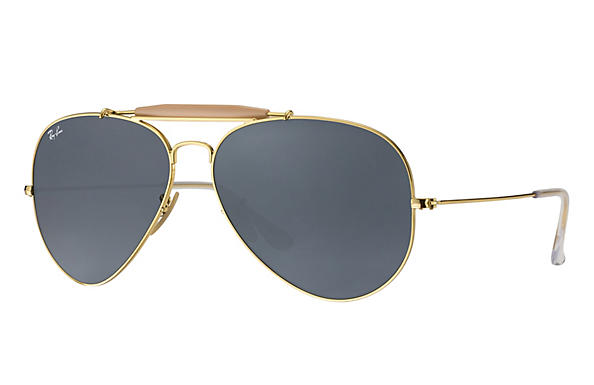 Ray-Ban  prescription sunglasses RB3029 UNISEX P003 outdoorsman ii gold RX_805289621126?roxLensPartNumber=Blue_Gray_Classic_SV