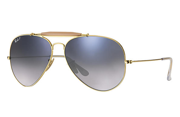 Ray-Ban  prescription sunglasses RB3029 UNISEX P003 outdoorsman ii gold RX_805289621126?roxLensPartNumber=Blue_Grey_Gradient_Polar_SV