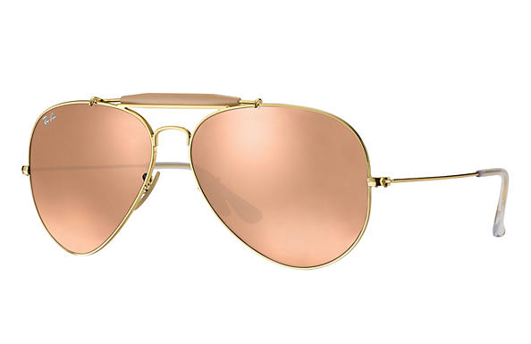 Ray-Ban  prescription sunglasses RB3029 UNISEX P003 outdoorsman ii gold RX_805289621126?roxLensPartNumber=Copper_Flash_SV