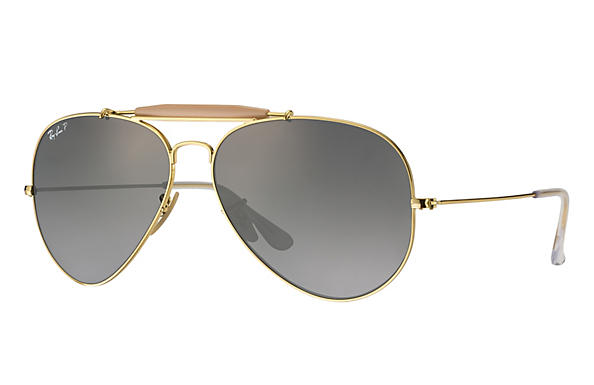 Ray-Ban  prescription sunglasses RB3029 UNISEX P003 outdoorsman ii gold RX_805289621126?roxLensPartNumber=Grey_Gradient_Polar_SV