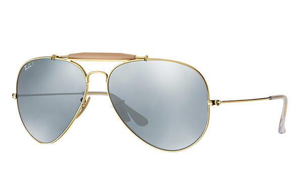Ray-Ban  prescription sunglasses RB3029 UNISEX P003 outdoorsman ii gold RX_805289621126?roxLensPartNumber=Silver_Flash_Polar_SV