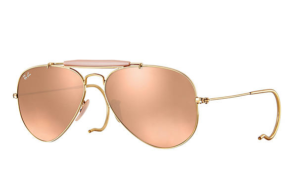 Ray-Ban  prescription sunglasses RB3030 MALE P003 outdoorsman gold RX_805289602163?roxLensPartNumber=Copper_Flash_SV