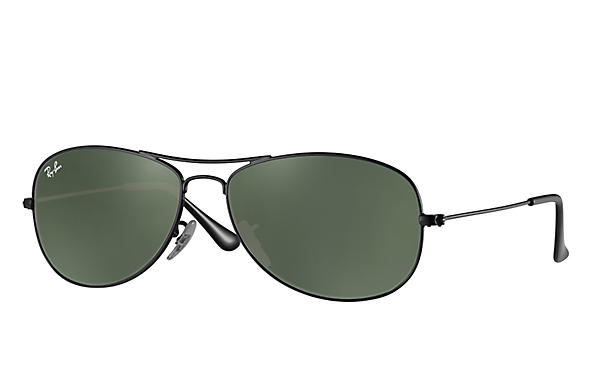 Ray-Ban Cockpit RB3362 Black - Metal - Green Prescription Lenses ... 5585e2c86