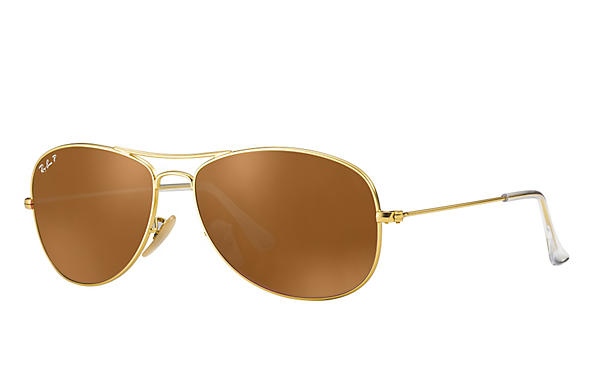 Ray-Ban  prescription sunglasses RB3362 UNISEX P021 cockpit gold RX_8053672251111?roxLensPartNumber=Brown_Classic_B 15_Polar_SV