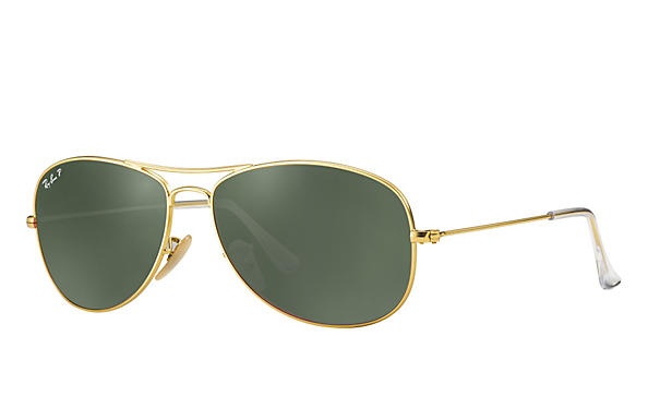 Ray-Ban  prescription sunglasses RB3362 UNISEX P021 cockpit gold RX_8053672251111?roxLensPartNumber=Green_Classic_G 15_Polar_SV