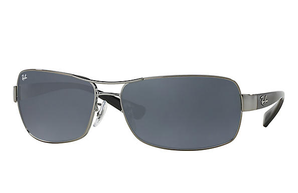 Ray-Ban  prescription sunglasses RB3379 MALE P007 rb3379 gunmetal RX_805289218746?roxLensPartNumber=Blue_Gray_Classic_SV