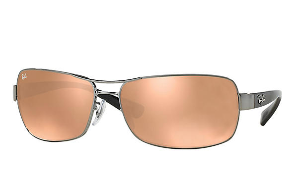 Ray-Ban  prescription sunglasses RB3379 MALE P007 rb3379 gunmetal RX_805289218746?roxLensPartNumber=Copper_Flash_SV