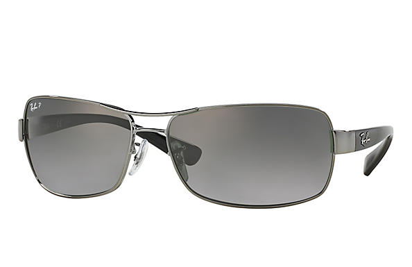 Ray-Ban  prescription sunglasses RB3379 MALE P007 rb3379 gunmetal RX_805289218746?roxLensPartNumber=Grey_Gradient_Polar_SV