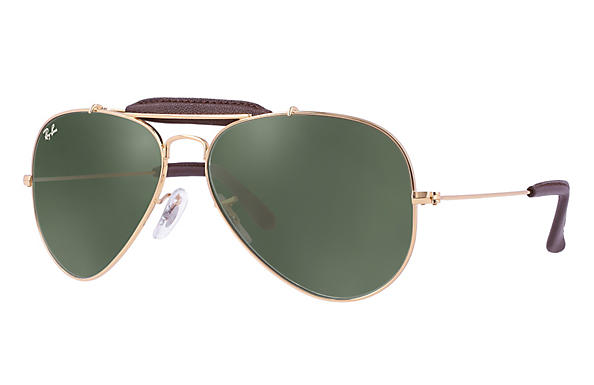 Ray-Ban 0RB3422Q-OUTDOORSMAN CRAFT Gold ROX_FRAME