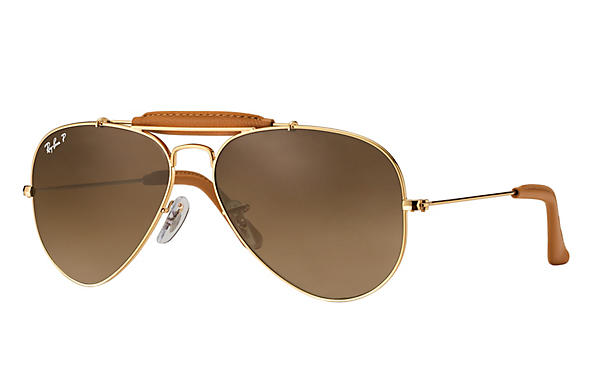Ray-Ban  prescription sunglasses RB3422Q UNISEX P006 outdoorsman craft gold RX_805289368977?roxLensPartNumber=Brown_Gradient_Polar_SV