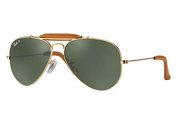 Ray-Ban  prescription sunglasses RB3422Q UNISEX P006 outdoorsman craft gold RX_805289368977?roxLensPartNumber=Green_Classic_G 15_Polar_SV