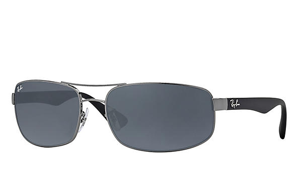 Ray-Ban  prescription sunglasses RB3445 MALE P016 rb3445 gunmetal RX_805289447535?roxLensPartNumber=Blue_Gray_Classic_SV