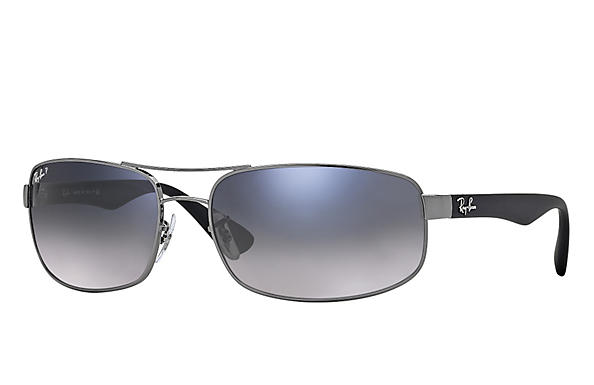 Ray-Ban  prescription sunglasses RB3445 MALE P016 rb3445 gunmetal RX_805289447535?roxLensPartNumber=Blue_Grey_Gradient_Polar_SV