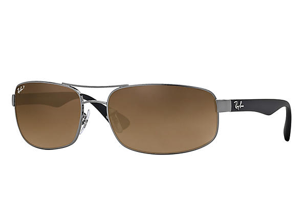 Ray-Ban  prescription sunglasses RB3445 MALE P016 rb3445 gunmetal RX_805289447535?roxLensPartNumber=Brown_Gradient_Polar_SV