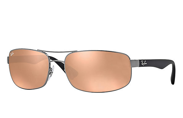 Ray-Ban  prescription sunglasses RB3445 MALE P016 rb3445 gunmetal RX_805289447535?roxLensPartNumber=Copper_Flash_SV