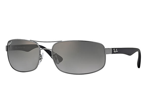 Ray-Ban  prescription sunglasses RB3445 MALE P016 rb3445 gunmetal RX_805289447535?roxLensPartNumber=Grey_Gradient_Polar_SV