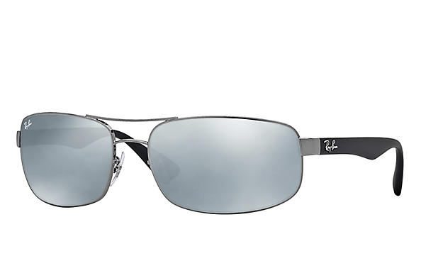 03ebc680a395f Ray-Ban RB3445 Gunmetal - Metal - Green Prescription Lenses ...