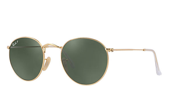Ray-Ban ROUND METAL Polished Gold