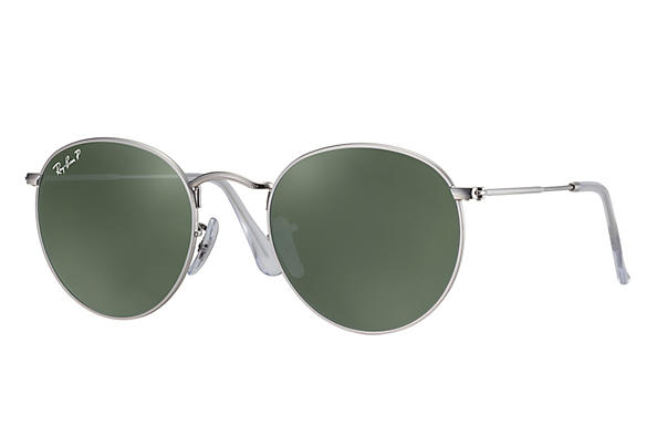 Ray-Ban ROUND FLASH LENSES Silver