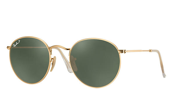 Ray-Ban ROUND FLASH LENSES Matte Gold