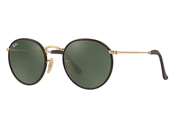 Ray-Ban 0RB3475Q-ROUND CRAFT Brown; Gold ROX_FRAME