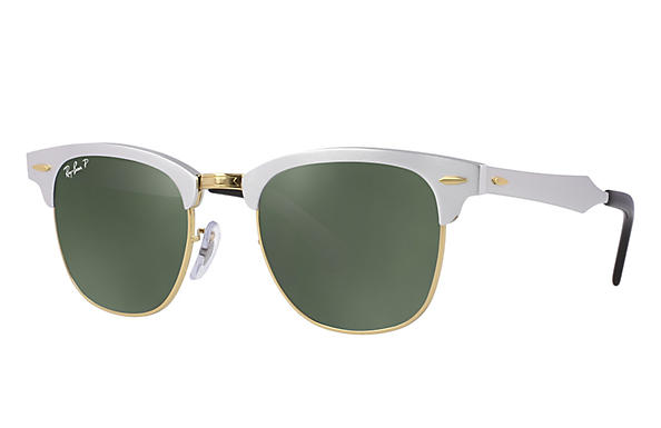 Ray-Ban CLUBMASTER ALUMINUM Silber