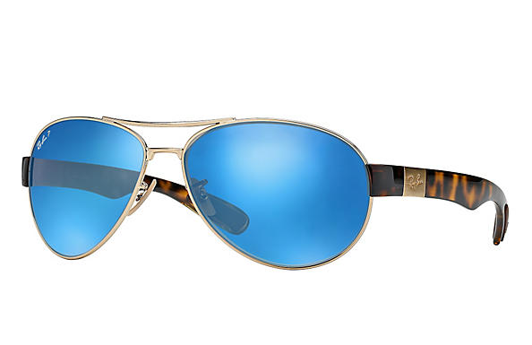 Ray-Ban  prescription sunglasses RB3509 MALE P009 rb3509 gold RX_8053672092196?roxLensPartNumber=Blue_Flash_Polar_SV