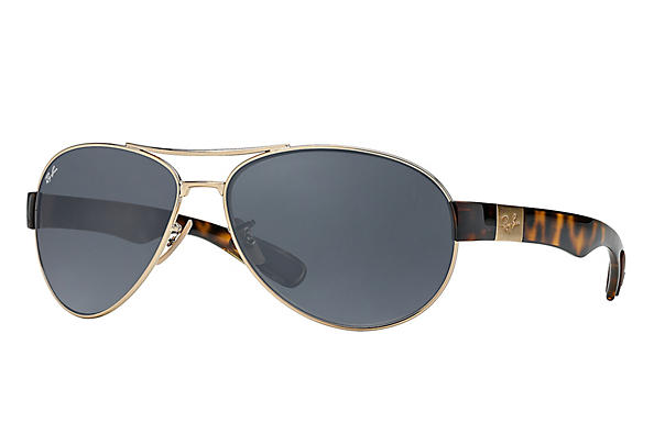 Ray-Ban  prescription sunglasses RB3509 MALE P009 rb3509 gold RX_8053672092196?roxLensPartNumber=Blue_Gray_Classic_SV