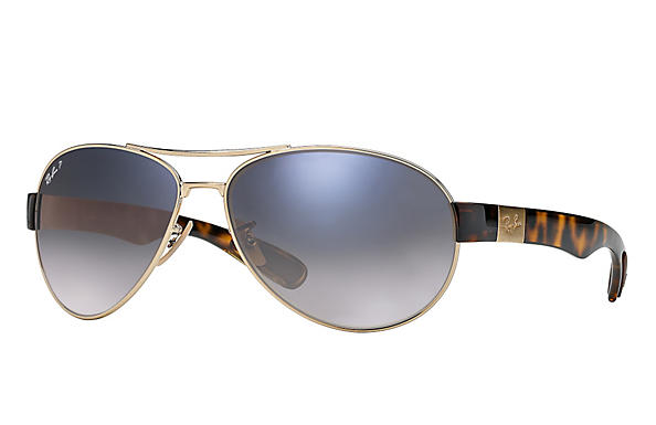 Ray-Ban  prescription sunglasses RB3509 MALE P009 rb3509 gold RX_8053672092196?roxLensPartNumber=Blue_Grey_Gradient_Polar_SV