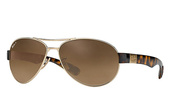 Ray-Ban  prescription sunglasses RB3509 MALE P009 rb3509 gold RX_8053672092196?roxLensPartNumber=Brown_Gradient_Polar_SV