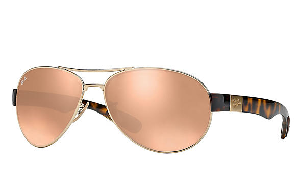 Ray-Ban  prescription sunglasses RB3509 MALE P009 rb3509 gold RX_8053672092196?roxLensPartNumber=Copper_Flash_SV