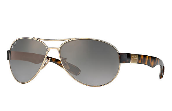 Ray-Ban  prescription sunglasses RB3509 MALE P009 rb3509 gold RX_8053672092196?roxLensPartNumber=Grey_Gradient_Polar_SV