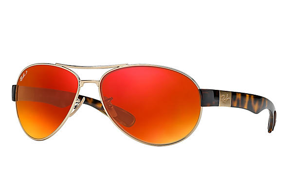 Ray-Ban  prescription sunglasses RB3509 MALE P009 rb3509 gold RX_8053672092196?roxLensPartNumber=Orange_Flash_Polar_SV
