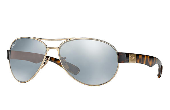 Ray-Ban  prescription sunglasses RB3509 MALE P009 rb3509 gold RX_8053672092196?roxLensPartNumber=Silver_Flash_Polar_SV