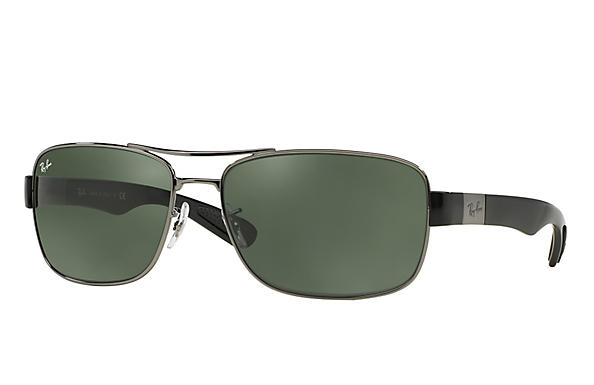 a0d66b1c8d Ray-Ban RB3522 Gunmetal - Metal - Green Prescription Lenses ...