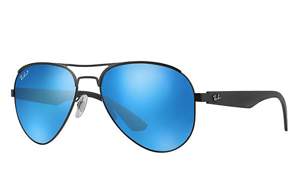 Ray-Ban  prescription sunglasses RB3523 MALE P006 rb3523 black RX_8053672351750?roxLensPartNumber=Blue_Flash_Polar_SV