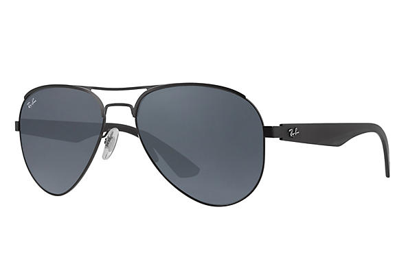 Ray-Ban  prescription sunglasses RB3523 MALE P006 rb3523 black RX_8053672351750?roxLensPartNumber=Blue_Gray_Classic_SV