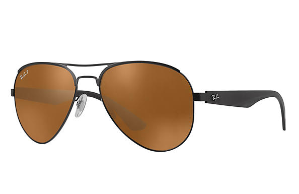 Ray-Ban  prescription sunglasses RB3523 MALE P006 rb3523 black RX_8053672351750?roxLensPartNumber=Brown_Classic_B 15_Polar_SV